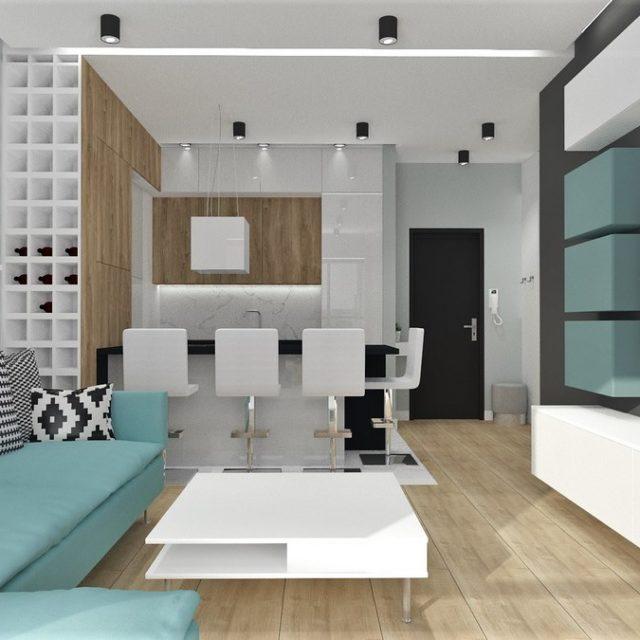 Mieszkanie Opole, - Oleander - stylistyka skandynawska