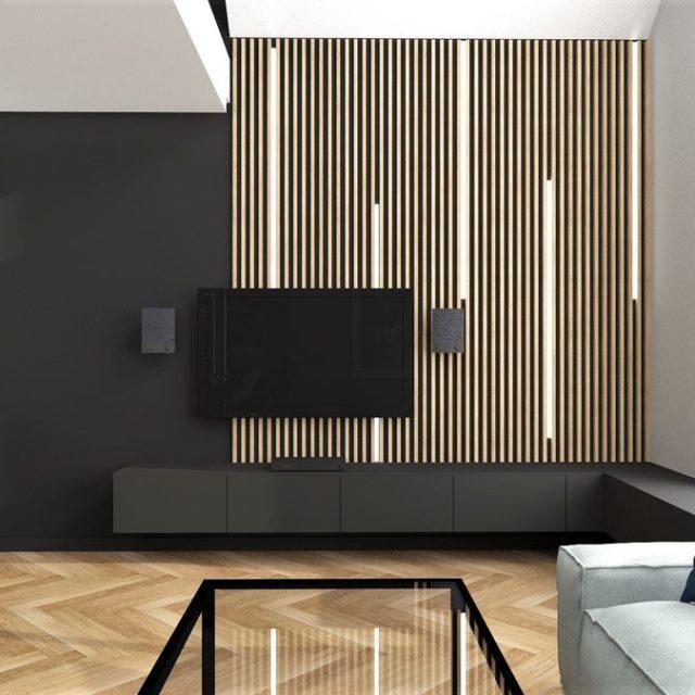 Dom w Zawadzie - salon 1