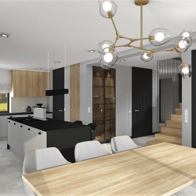 Dom w Zawadzie - salon 3